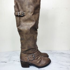 Carlos Santana Knee High Riding Boot